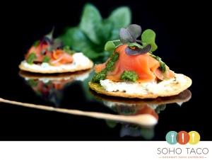 SOHO TACO Gourmet Taco Catering - Appetizers - Tostaditas De Salmon - Orange County - OC