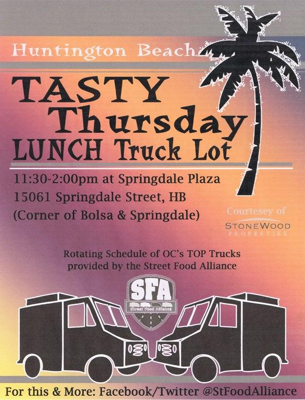 Tasty Thursday Huntington Beach Flyer