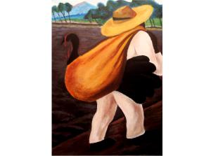 SOHO TACO Gourmet Taco Catering - Food Truck - Campesino Cargando Un Guajalote - Diego Rivera