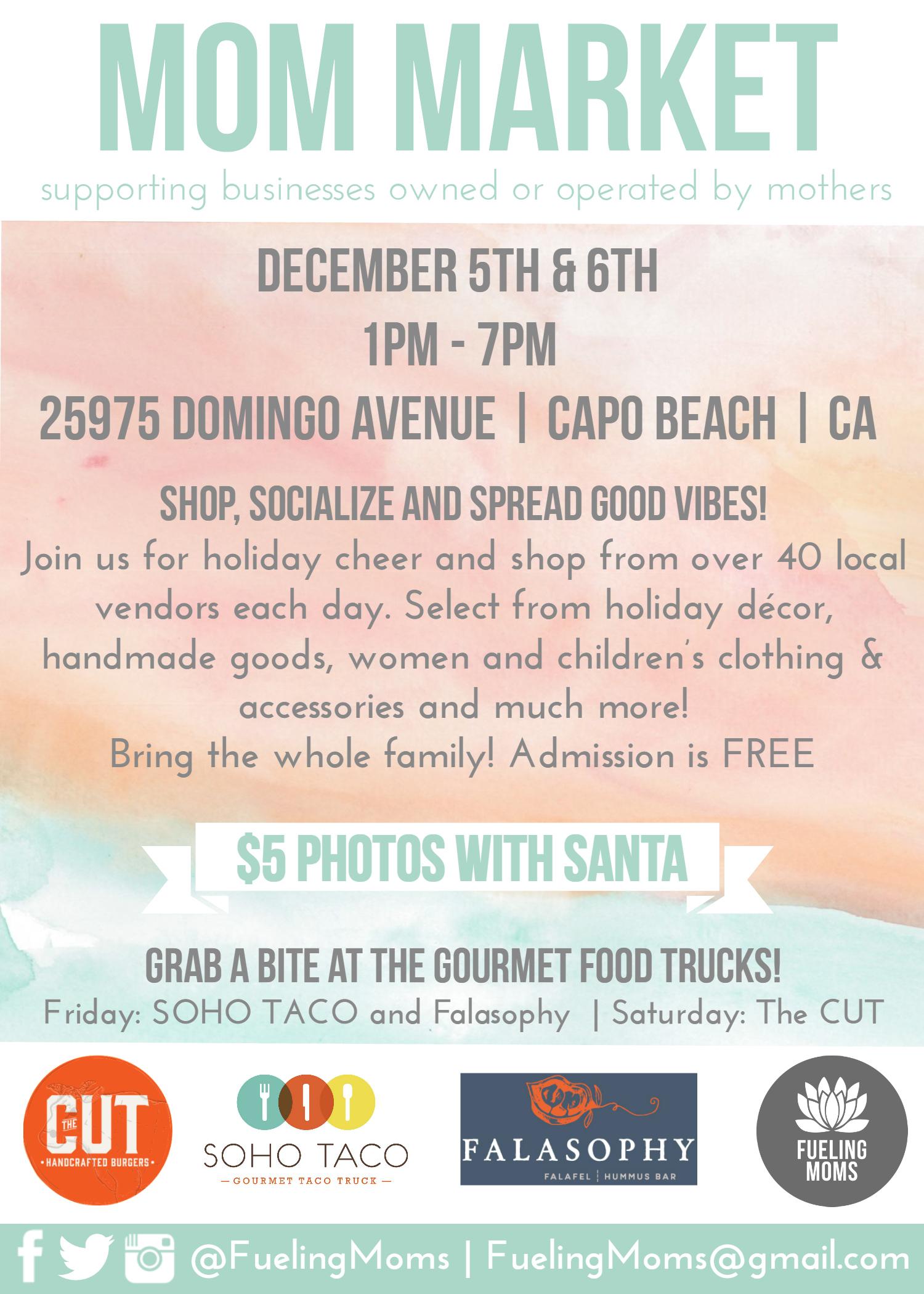 SOHO TACO Gourmet Taco Truck - Fueling Moms - Mom Market - Capistrano Beach - Orange County - CA