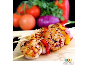 SOHO TACO Gourmet Taco Catering - Los Angeles - Shrimp Skewers - Espadillas de Camarones