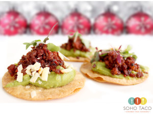 SOHO TACO Gourmet Taco Catering - Tostaditas de Chorizo Appetizers - Los Angeles - CA