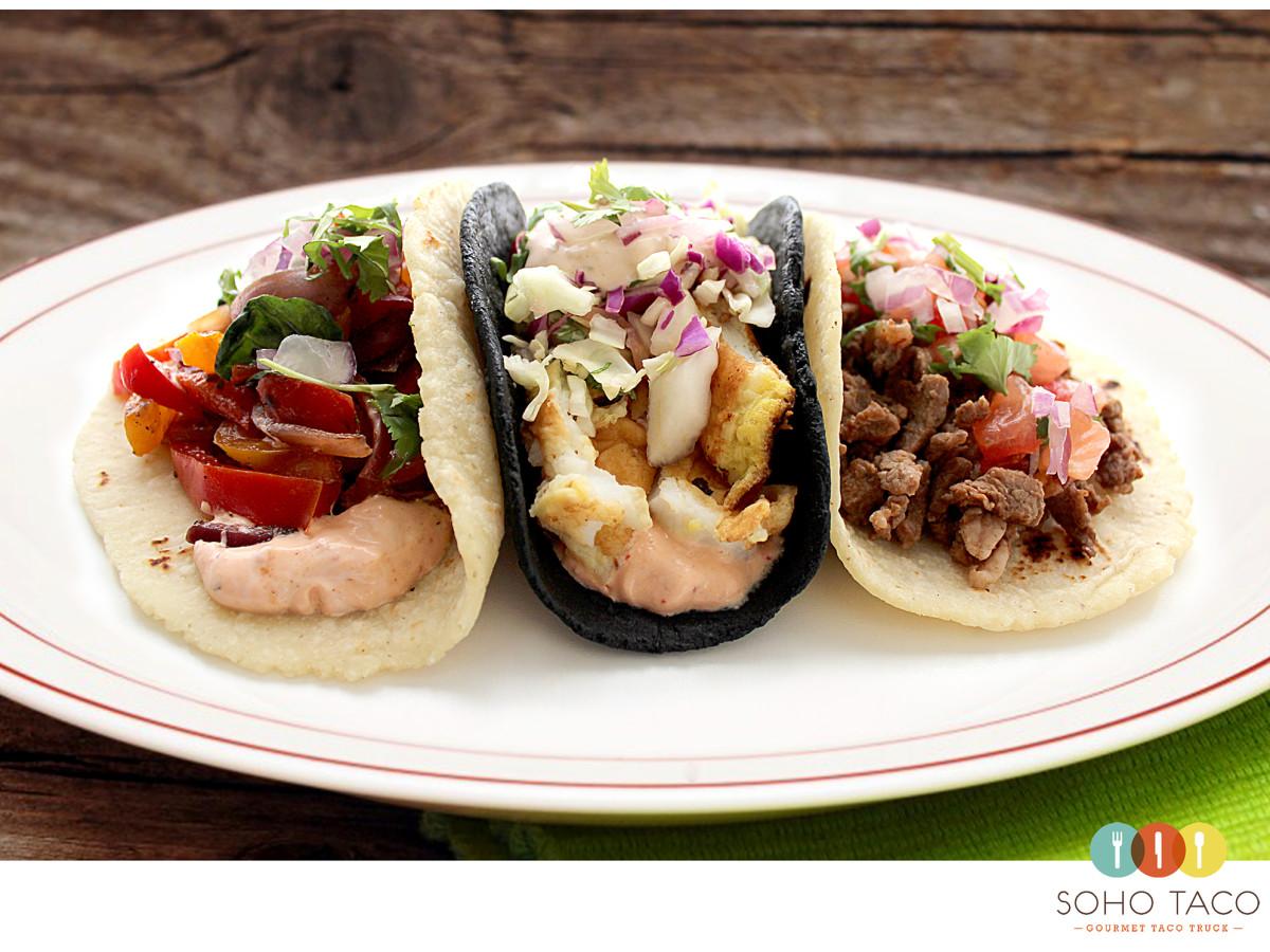 SOHO TACO Gourmet Taco Truck - Veggie - Calamar Capeado - Carne Asada - Orange County - OC