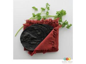 SOHO TACO Gourmet Taco Catering - Black Squid Ink Tortillas - Blue Corn Tortillas