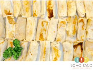 SOHO TACO Gourmet Taco Catering - Mini Bean Rice And Cheese Burritos - La Chureya -Palm Springs - CA