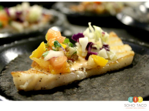 SOHO TACO Gourmet Taco Catering - Los Angeles - Tacolandia - Grilled Seabass on Squid Ink Tortilla