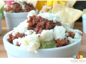 SOHO TACO Gourmet Taco Catering - Salsa de Guacamole - Chorizo Con Salsa Fresca