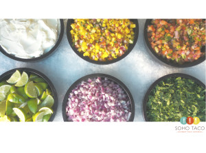 SOHO TACO Gourmet Taco Catering - Palm Springs - La Chureya - Condiments and Salsas - Wedding