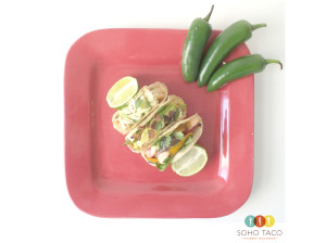 SOHO TACO Gourmet Taco Truck - Los Angeles - Shrimp - Desperado & Veggie Tacos