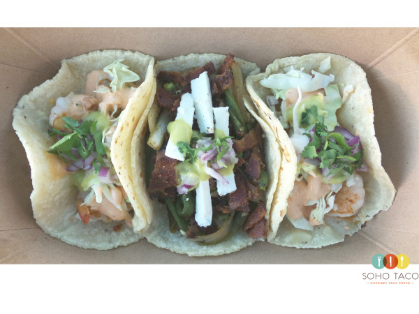 SOHO TACO Gourmet Taco Truck - Taco El Desperado - Camarones - Orange County - OC