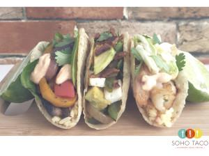SOHO TACO Gourmet Taco Truck - Veggie El Desperado Camarones - Orange County - OC