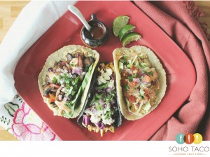 SOHO TACO Gourmet Taco Truck - Veggie - El Manchamantel - Camarones - Orange County - OC