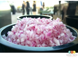 SOHO TACO Gourmet Taco Catering - San Diego Natural History Museum - Red Onions - Diced