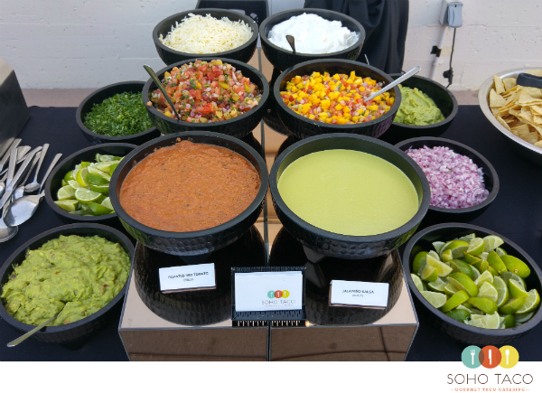 SOHO TACO Gourmet Taco Catering - San Diego - Wedding - Natural History Museum - Condiments