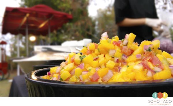 SOHO TACO Gourmet Taco Catering - Wedding - Rancho Los Cerritos - Mango Salsa