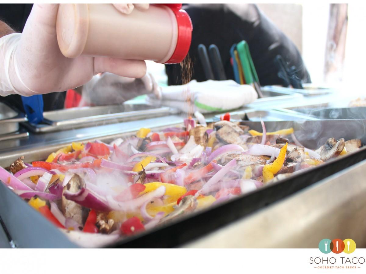 SOHO TACO Gourmet Taco Truck - Grilling Veggies - Orange County - OC