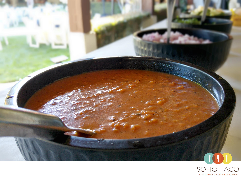 SOHO TACO Gourmet Taco Catering - Rancho Tecolote - Goleta - Salsa Roja