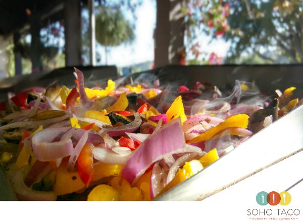 SOHO TACO Gourmet Taco Catering - Rancho Tecolote - Goleta - Santa Barbara - Veggies On The Grill