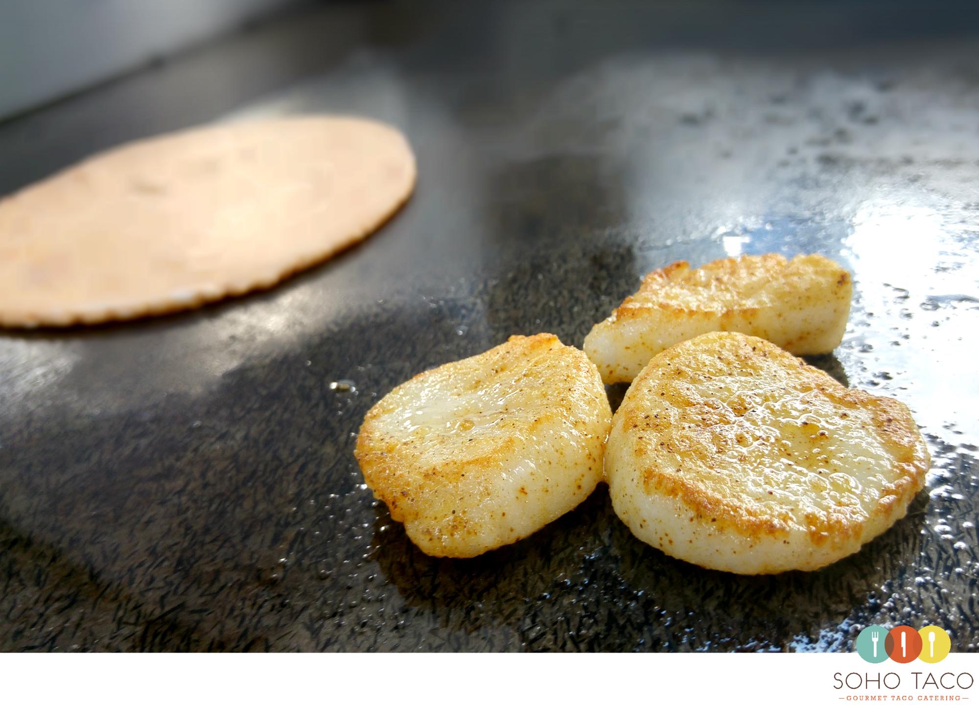 SOHO TACO Gourmet Taco Catering - Los Angeles - LA County - Scallops - Tomato Tortilla