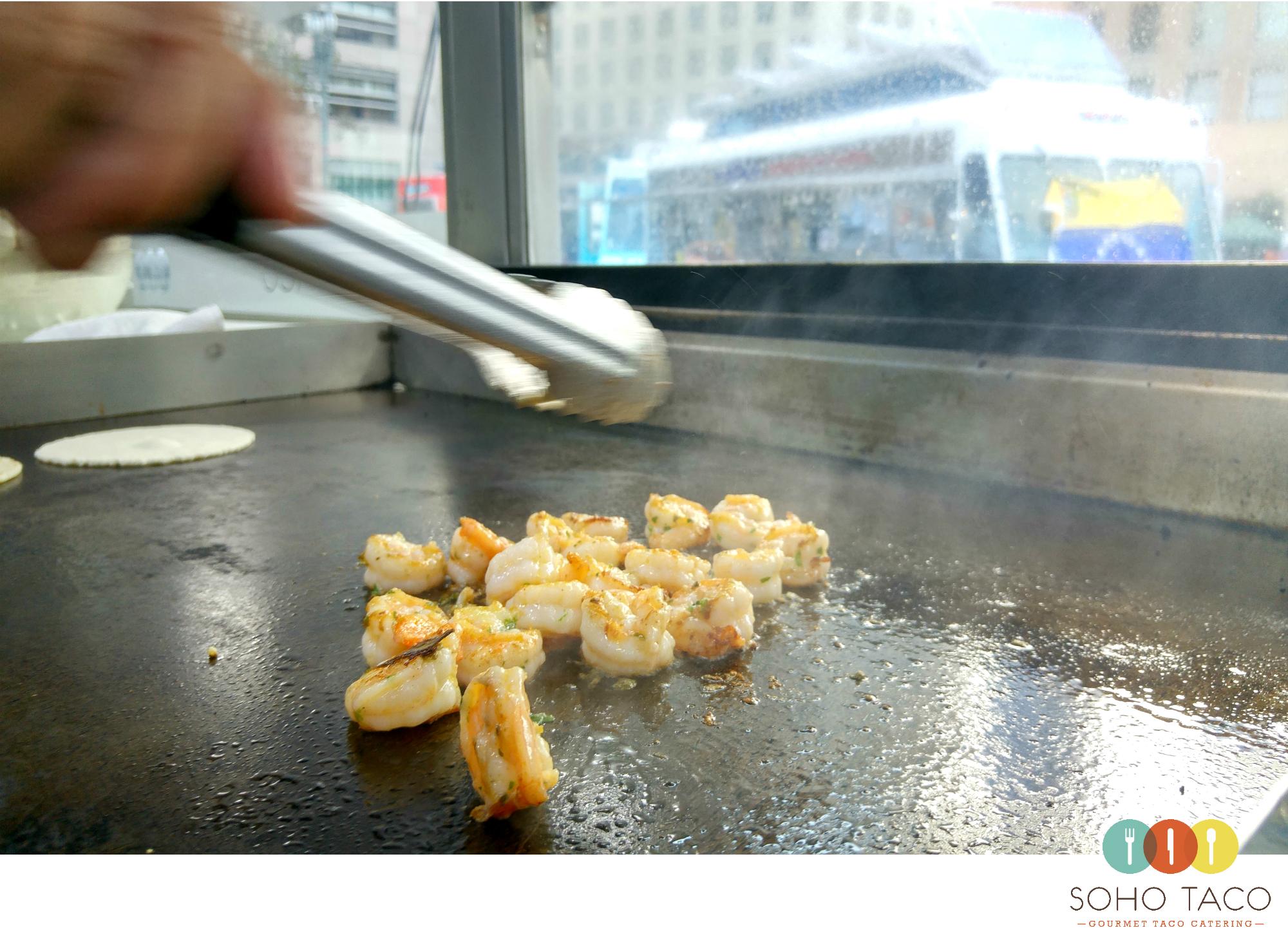 SOHO TACO Gourmet Taco Catering - Los Angeles - Camarones - Shrimp Tacos - LA Art Walk - DTLA