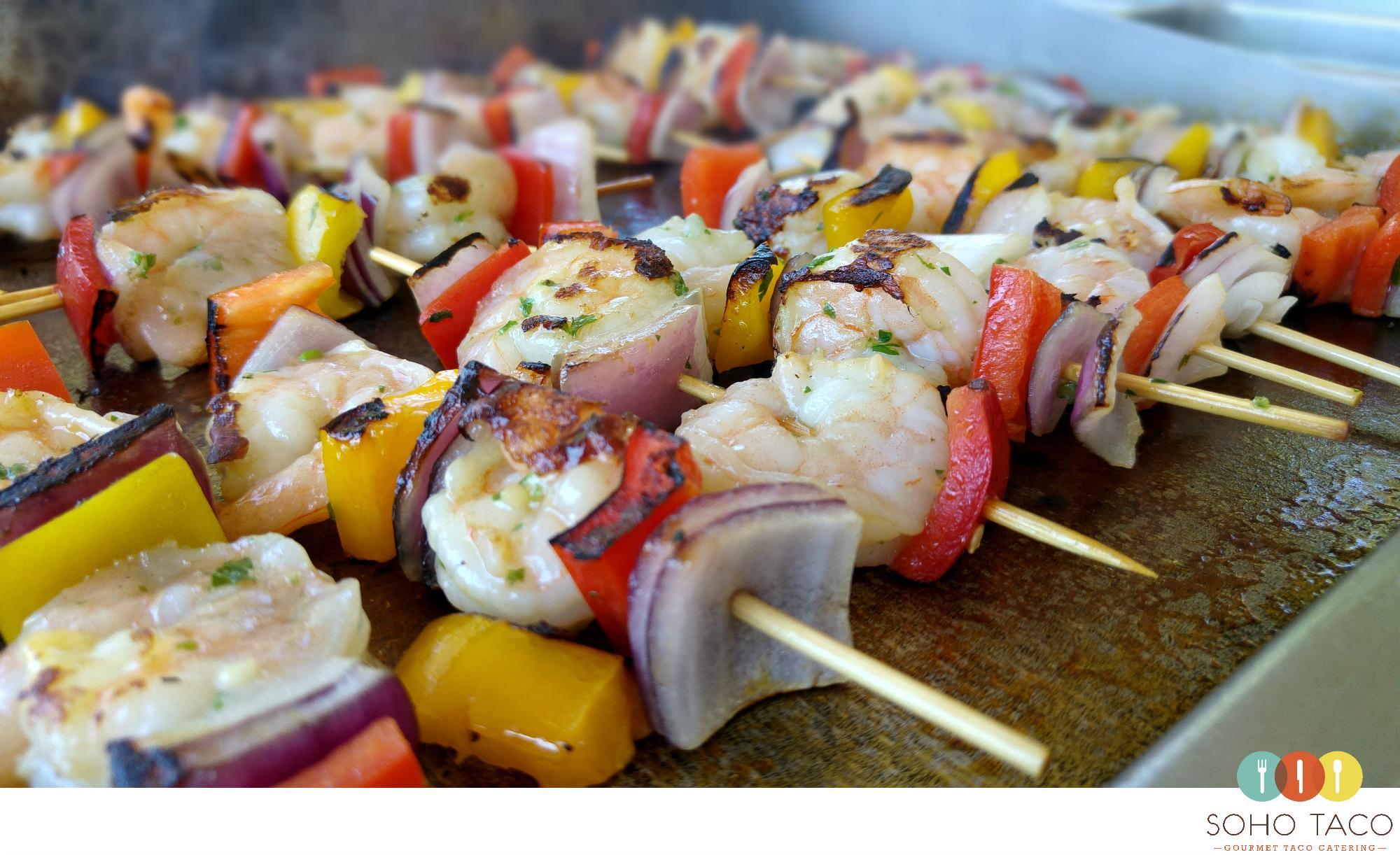 SOHO TACO Gourmet Taco Catering - Rancho Buena Vista Adobe - Wedding - Shrimp Skewers Appetizers