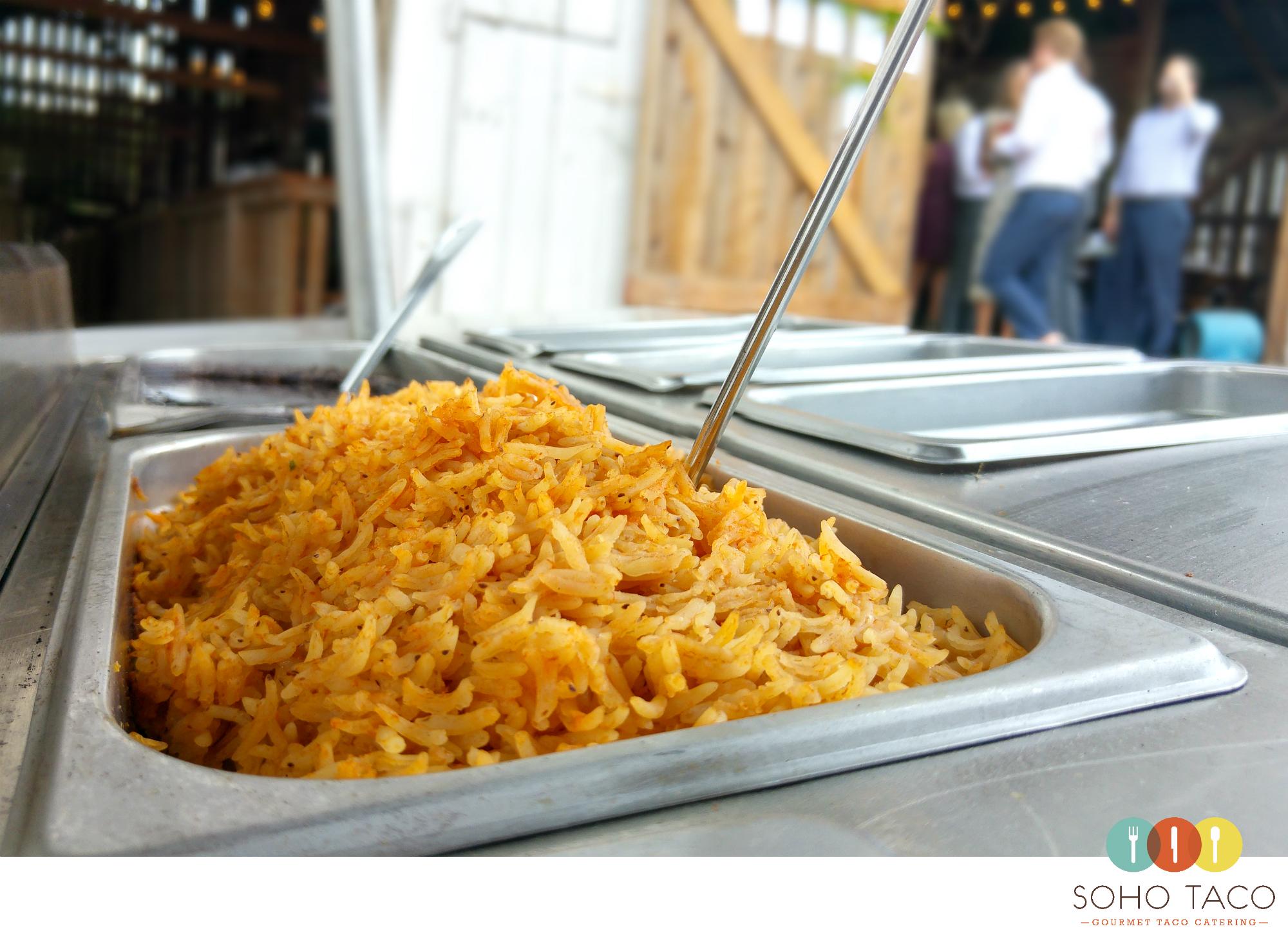 SOHO TACO Gourmet Taco Catering - San Luis Obispo - Spreafico Farms Barn - Spanish Rice
