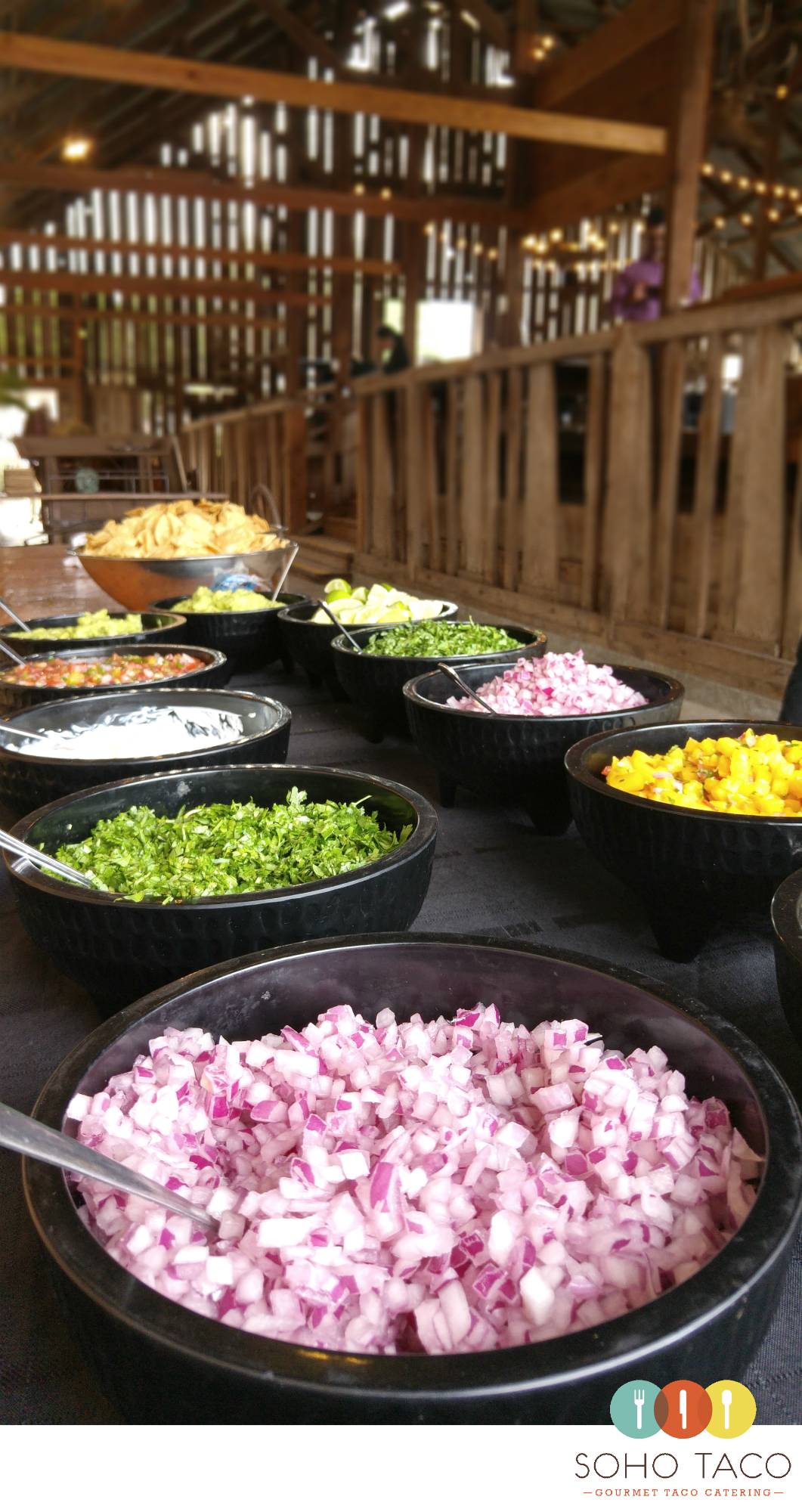 Soho Taco Gourmet Catering San Luis Obispo Wedding Spreafico Farms Condiments