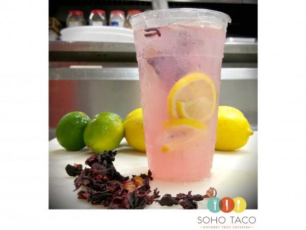 SOHO TACO Gourmet Taco Catering - Hibicus Tea Lemonade Agua Fresca