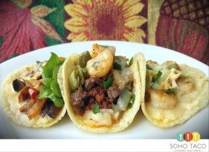 SOHO TACO Gourmet Taco Catering - Orange County - OC - Veggie Mestizo Shrimp Tacos