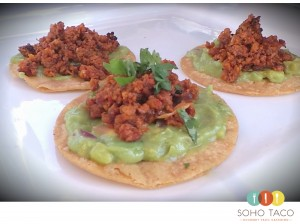 SOHO TACO Gourmet Taco Catering - Tostadita de Chorizo Appetizers