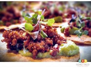 SOHO TACO Gourmet Taco Caering - Wedding - Holland Ranch - SLO - Tostadita de Chorizo