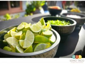 SOHO TACO Gourmet Taco Catering - Orange County - OC Fair - Limes - Limones