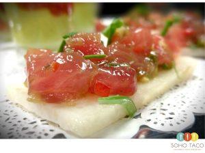 SOHO TACO Gourmet Taco Catering - Ahi Tuna Taretare - Appetizer - Orange County - OC