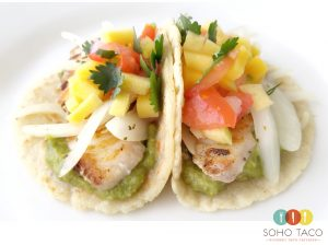 SOHO TACO Gourmet Taco Catering - El Supremo - June Special - Grilled Grouper
