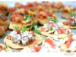 SOHO TACO Gourmet Taco Catering - Tostaditas de Ceviche Appetizers - Del Mar - Wedding