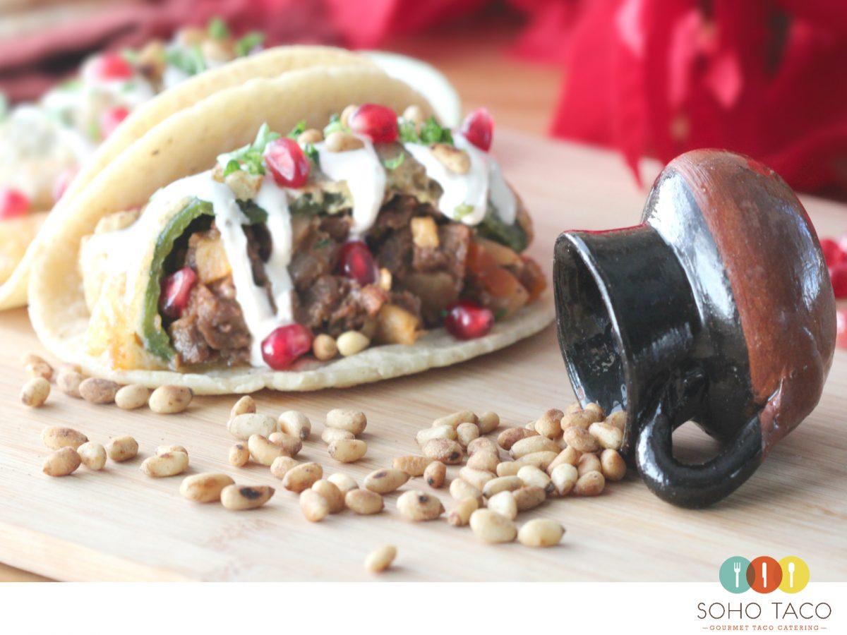 SOHO TACO Gourmet Taco Catering - Orange County - OC - Pinones - Taco Navideno