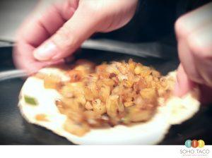 SOHO TACO Gourmet Taco Catering - Tacos de Papa Picante - Spicy Potato Taco