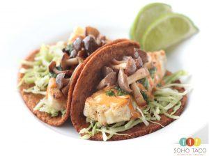 SOHO TACO Gourmet Taco Catering - El Taco Esquimal - Grilled Alaskan Halibut Taco - Orange County