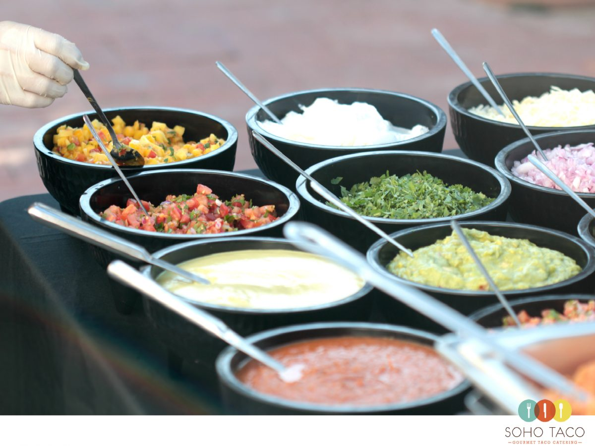 SOHO TACO Gourmet Taco Catering - Historic Cottage - San Clemente - Condiments Salsas - OC