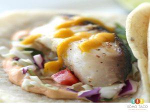 SOHO TACO Gourmet Taco Catering - Taco de Bacalao Negro - Orange County OC