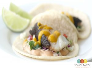 SOHO TACO Gourmet Taco Catering - Taco de Bacalao Negro - Orange County - OC