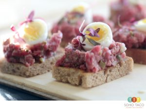 SOHO TACO Gourmet Taco Catering - Tartare de Filete Minion Appetizers - Orange County - OC