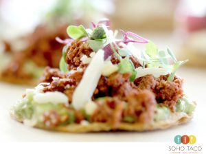 SOHO TACO Gourmet Taco Catering - Tostadita de Chorizo Appetizer - Los Angeles - Orange County