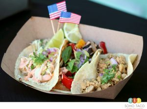 SOHO TACO Gourmet Taco Catering - Camarones - Veggies - Pollo Tacos - Independence Day - 4th of July