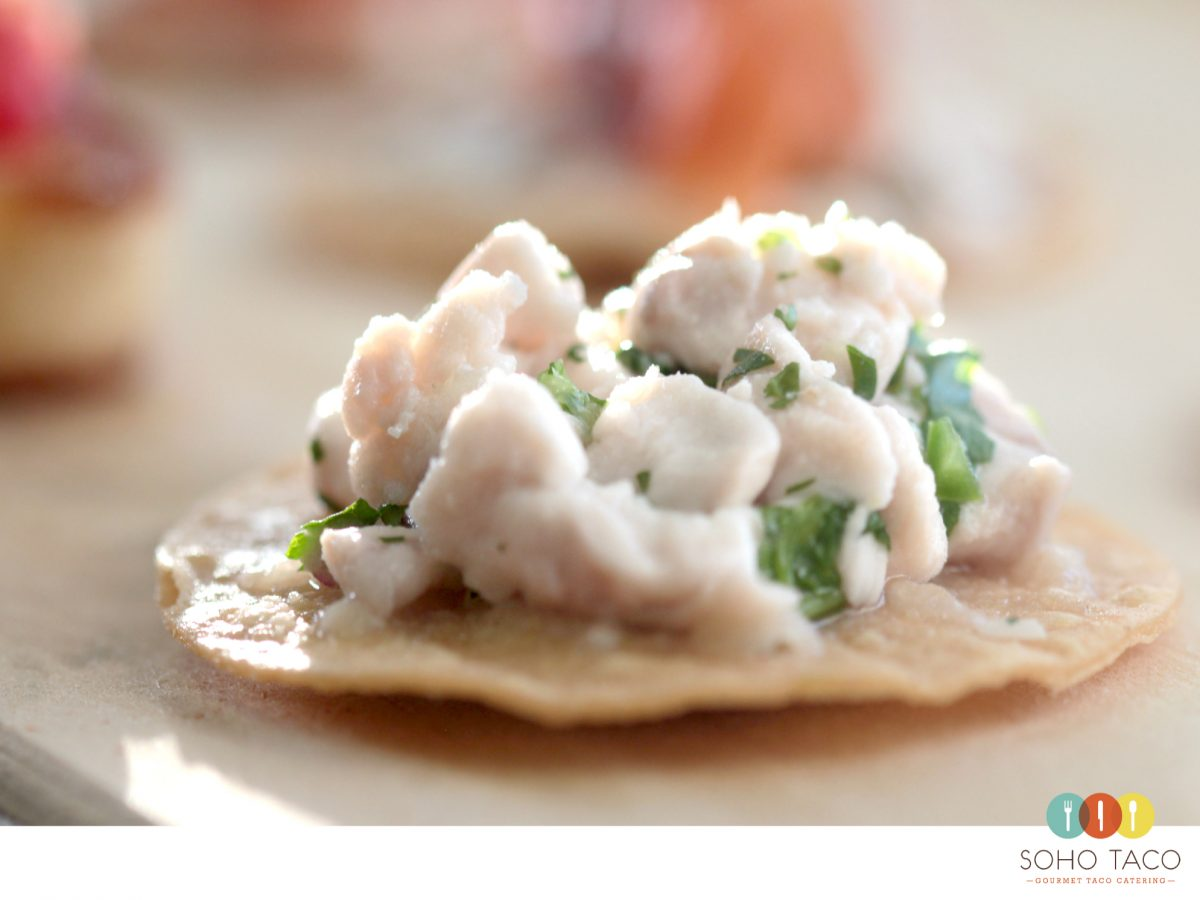 SOHO TACO Gourmet Taco Catering - Tostadita de Ceviche - Orange County - Bridal Show