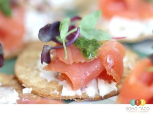 SOHO TACO Gourmet Taco Catering - Tostadita de Salmon Appetizer