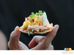 SOHO TACO Gourmet Taco Catering - Tostaditas de Cangrejo Jaiba - Tasting Night September 2017 - OC