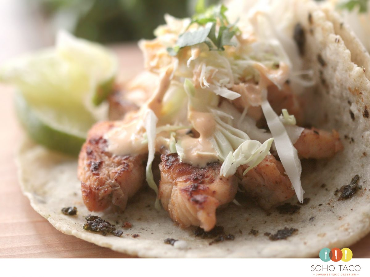 SOHO TACO Gourmet Taco Catering - Monkfish Asado - October Special - Orange County - OC
