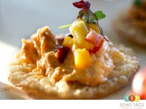 SOHO TACO Gourmet Taco Catering - Tostadita de Cangrejo Appetizer - Los Angeles - Orange County