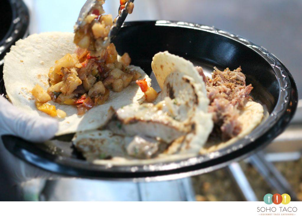 SOHO TACO Gourmet Taco Catering - Wedding - Thursday Club - Spicy Potato Tacos